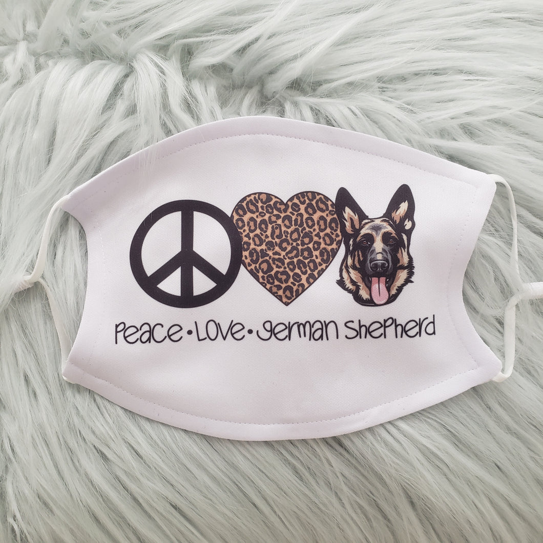 Peace Love & Shepherds Mask
