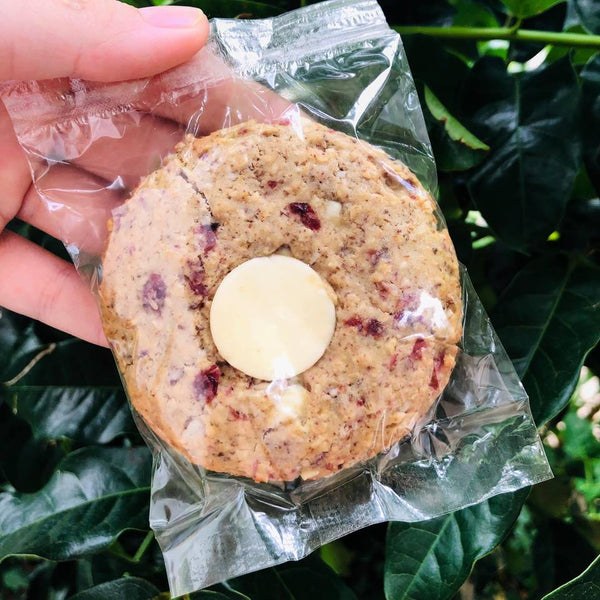 cranberry & white choc lactation cookies
