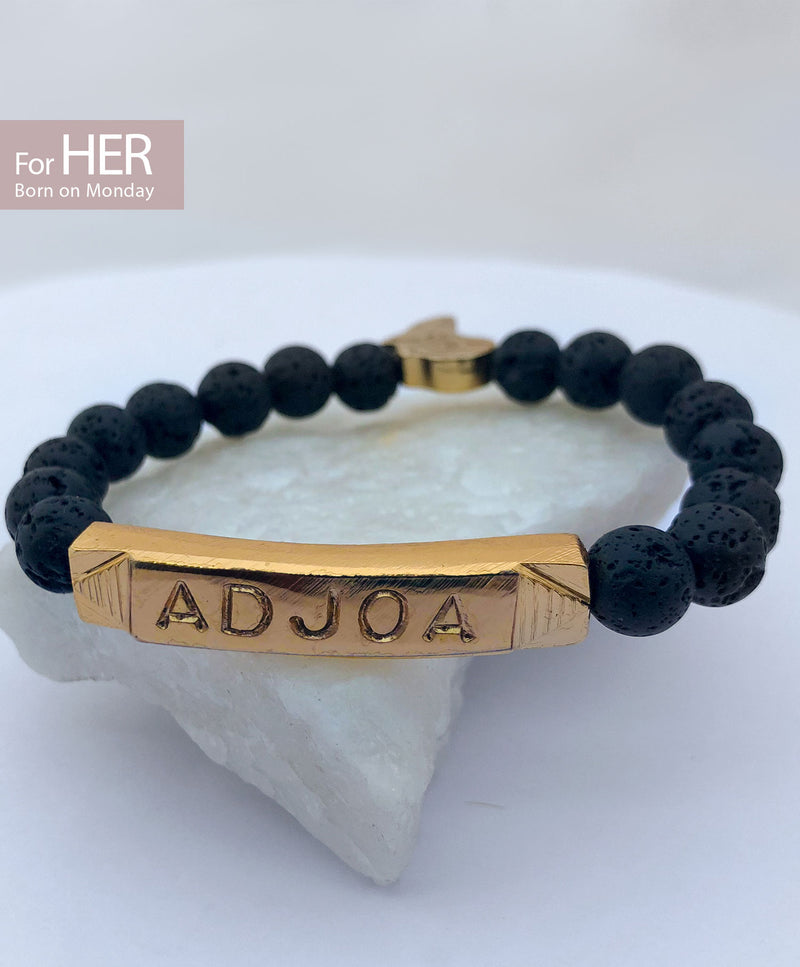 ADJOA Identity Beads | For (HER) Born on Monday - by Orijin Culture