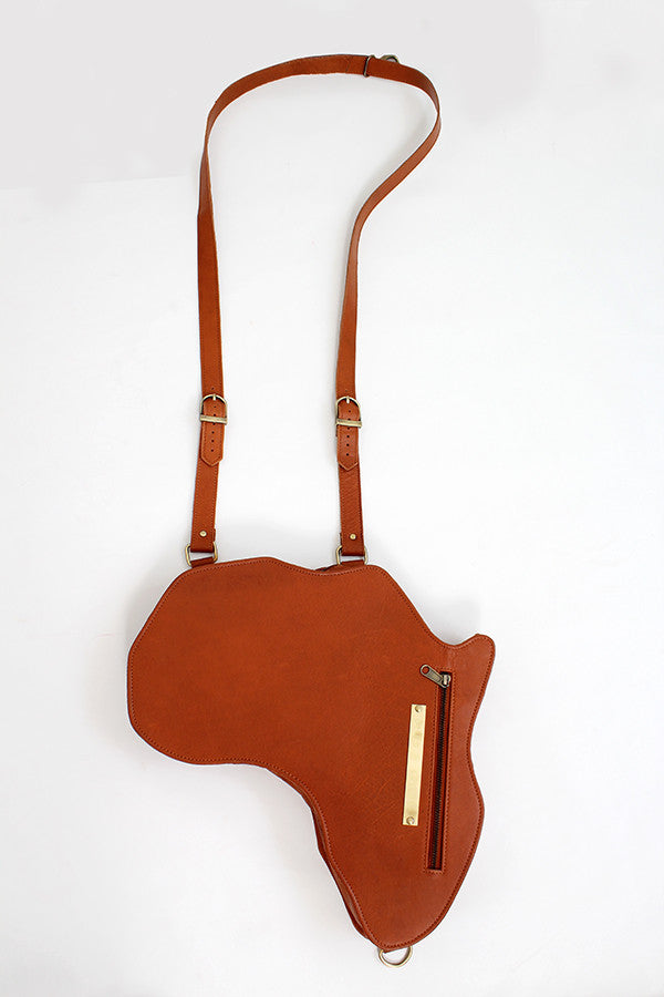 Africa Bag / Backpack - Brown Leather (M) | Alkebulan Collection - by Orijin Culture