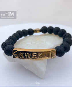 KWEKU Beads Bracelet | Born on Wednesday (HIM) - by Orijin Culture
