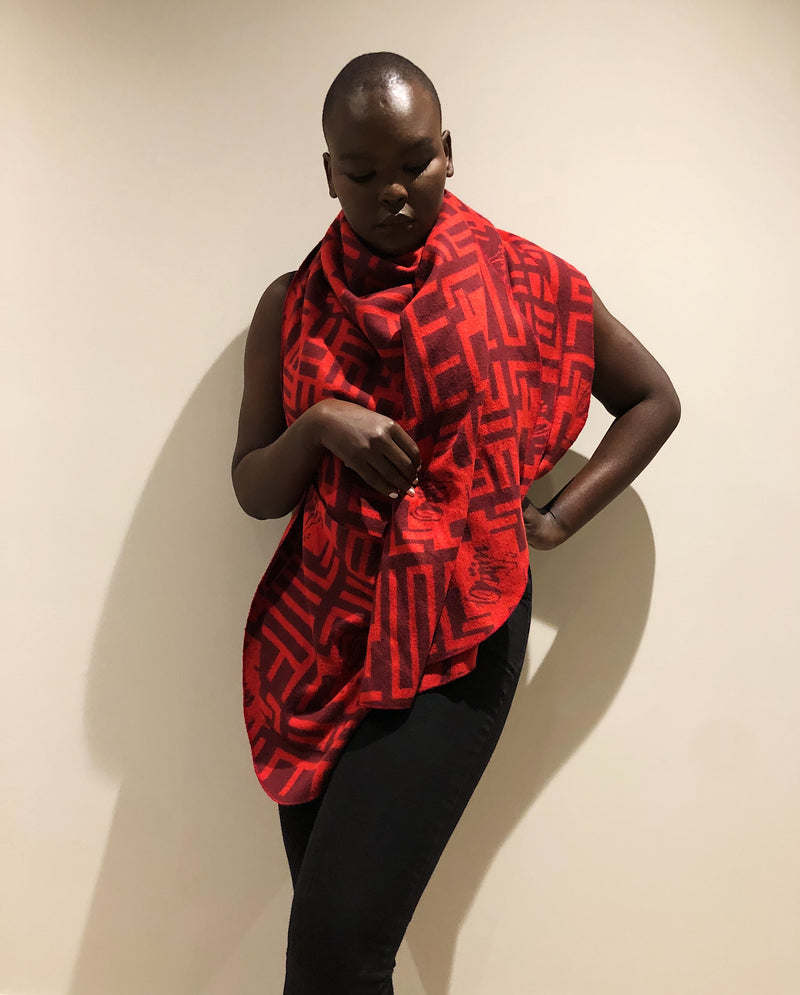 Orijin Africa Cloth | Maasai Red - by Orijin Culture