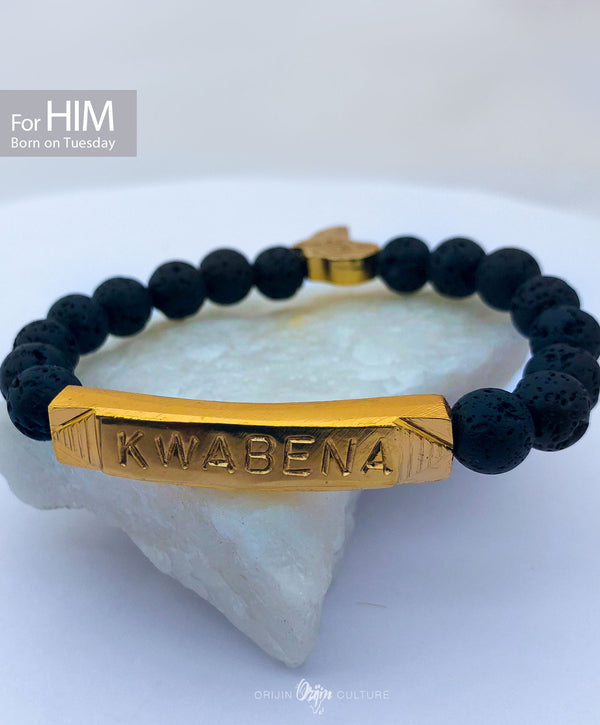 KWABENA Beads Bracelet | Born on Tuesday (HIM) - by Orijin Culture