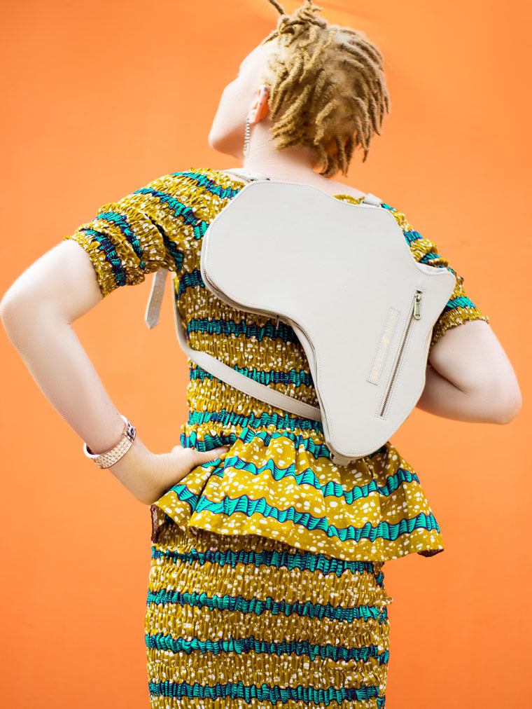 Africa Bag / Backpack - Bone Leather (M) | Alkebulan Collection - by Orijin Culture