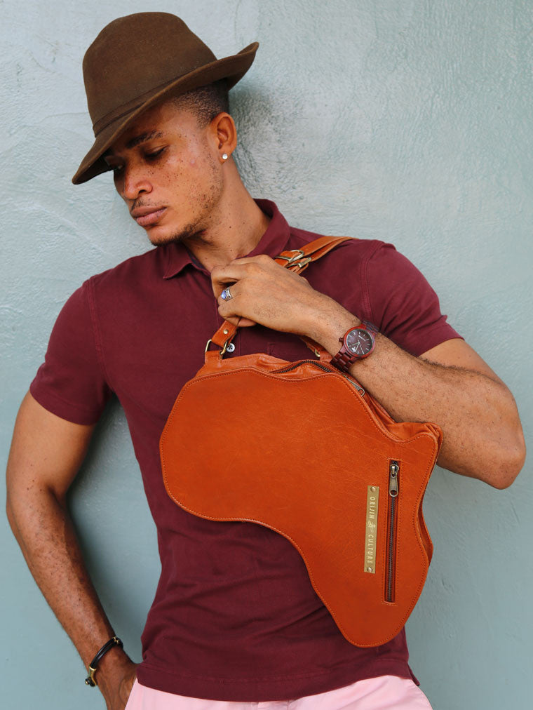 Alkebulan Bag | Large Brown - SHOP | Orijin Boutique