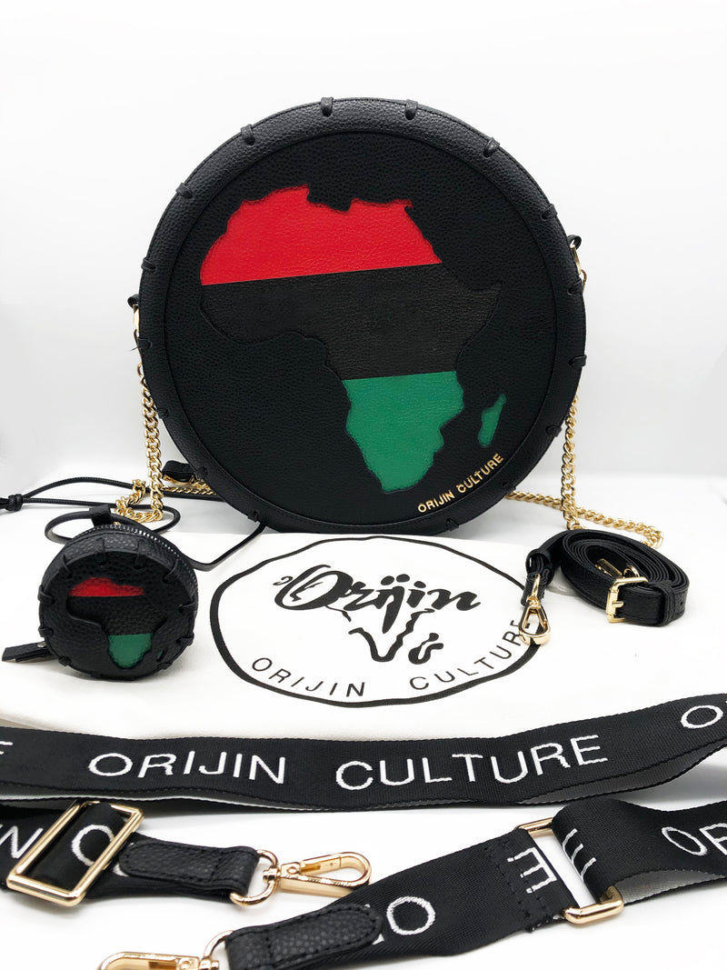 Africa Sign Medallion Bag + Stash Necklace- NEW! - by Orijin Culture