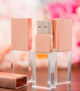 Rose Gold 16gb Crystal Flash Drive