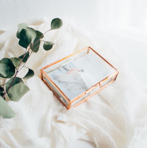 ROSE GOLD Glass 4x6 proof box
