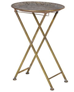 Gold Detailed Folding Table