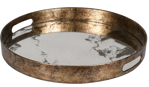 Mirrored Marble Effect Tray