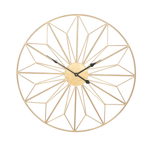 Gold Deco Clock.