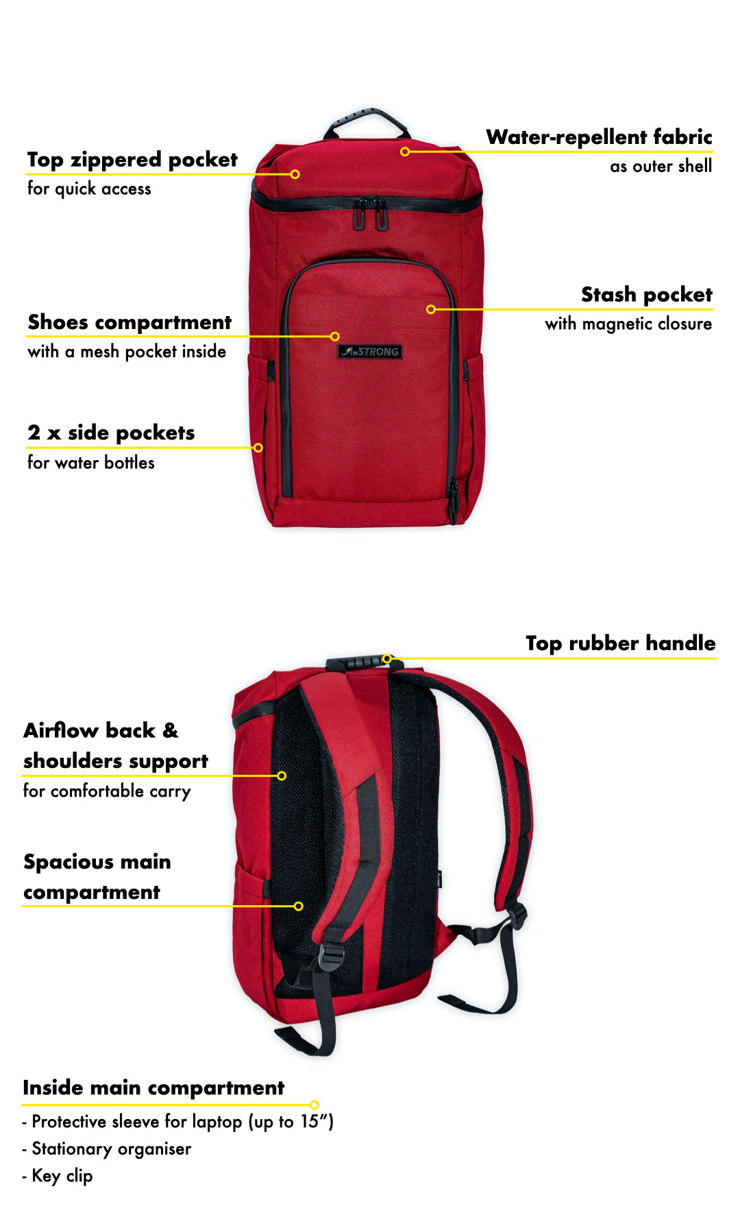 AmSTRONG 01-RUCKSACK red