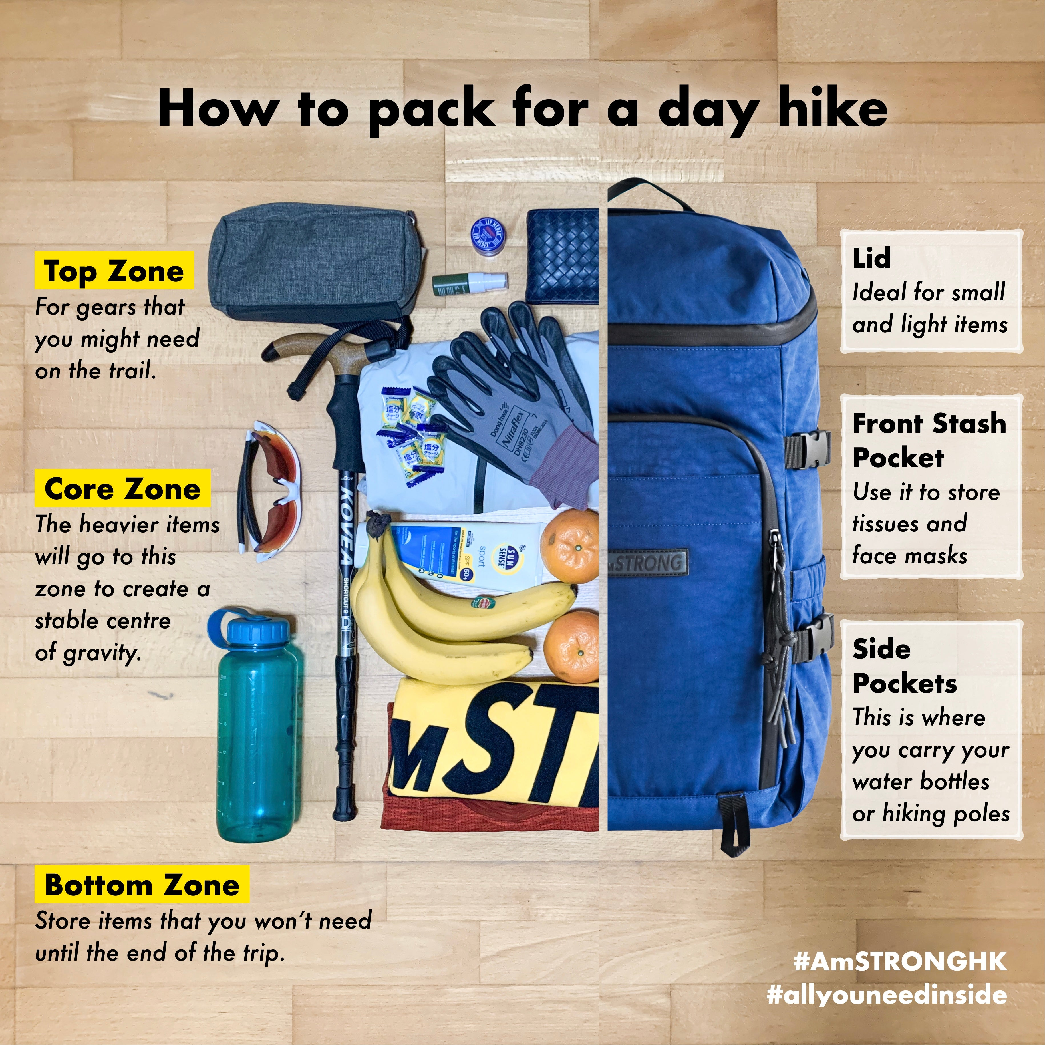 AmSTRONG | How to pack a backpack