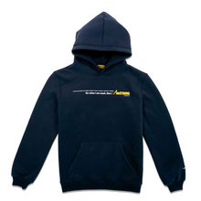 Load image into Gallery viewer, AmSTRONG navy blue hoodie with printed statement