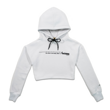 Load image into Gallery viewer, white cropped hoodie with contrast details
