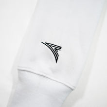 Load image into Gallery viewer, white sleeve with black embroidered logo