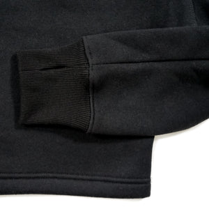 black sleeve with a thumb hole