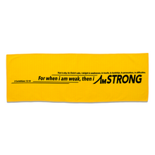 Load image into Gallery viewer, yellow micro-fibre sport towel with black statement print