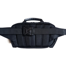 Load image into Gallery viewer, black belt bag with back mesh panels