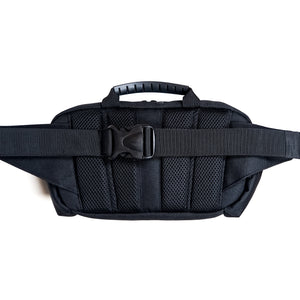 black belt bag with back mesh panels