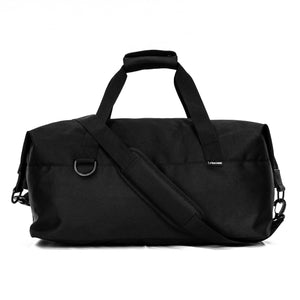 back of black sport duffel
