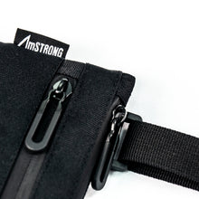 Load image into Gallery viewer, details of AmSTRONG black crossbody bag