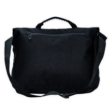 Load image into Gallery viewer, zipped pocket at the back of a black crossbody bag