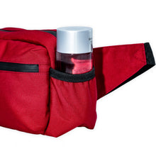 Load image into Gallery viewer, red belt bag with side water bottle pockets