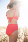 CULOTTE TAILLE HAUTE - Rouge corail