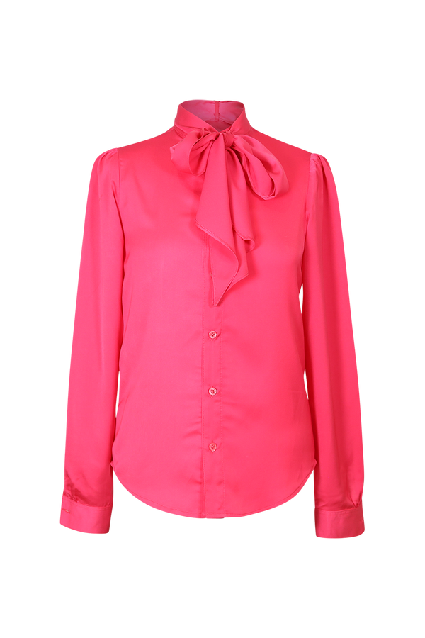 Pink Pussy Bow Silk Blouse Top- Perfect your own way
