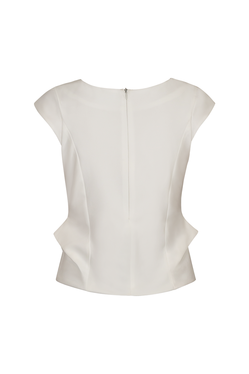 Nip Waist Detail Origami Top Top- Perfect your own way