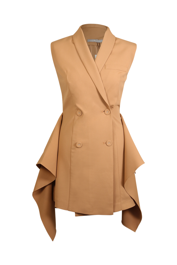 Blazer Dress with Ruffle Sides Dress- Perfect your own way
