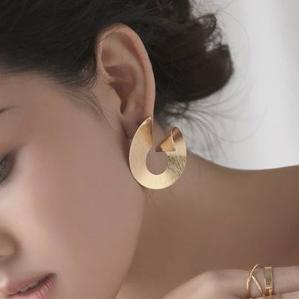 Gold-stone hoop earrings Earrings- Perfect your own way