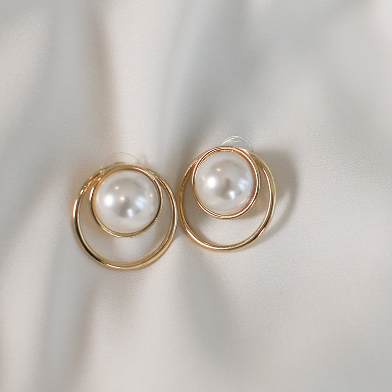 Gold-tone faux pearl earrings Earrings- Perfect your own way
