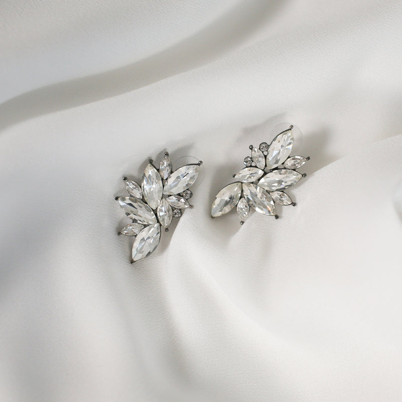 Silver-tone crystal earrings Earrings- Perfect your own way