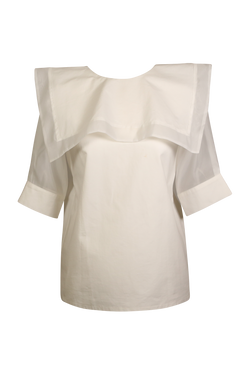 Organza and Pearl Detailed Sailor Style Top Top- Perfect your own way