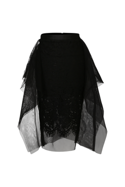Waterfall Tulle Detail Lace Skirt - Perfect your own way