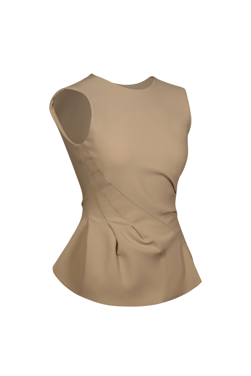 Ruffle Detail Peplum Top - Perfect your own way