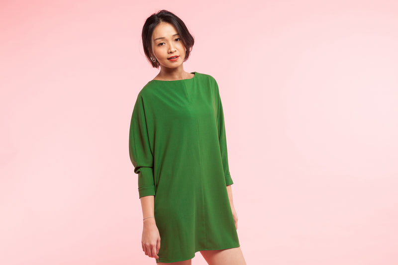 Green Shift Dress Dress- Perfect your own way