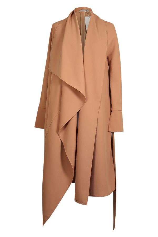 Nude Asymmetric Waterfall Coat Outerwear- Perfect your own way