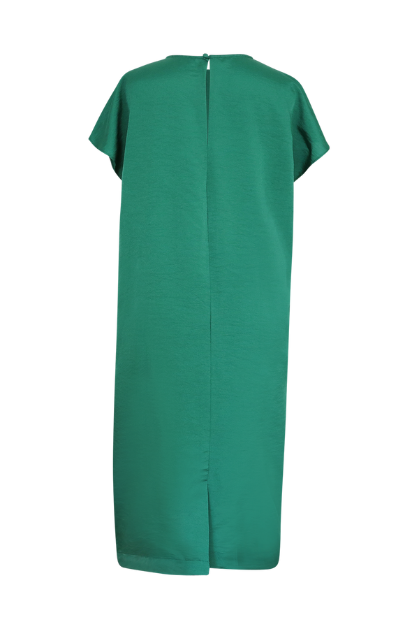 Green Maxi Silk Dress Dress- Perfect your own way