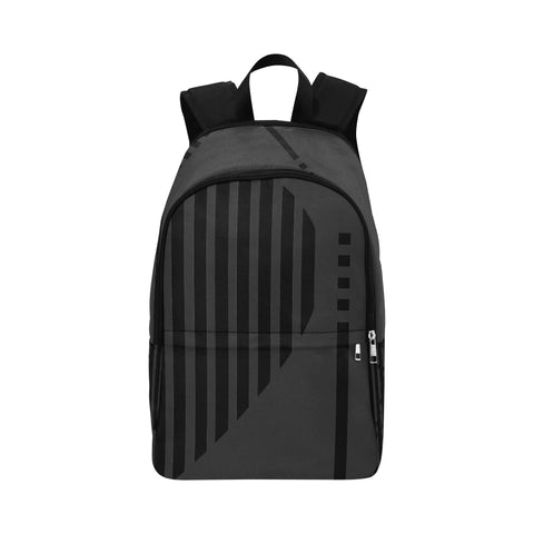 WOW | i Collection Geo Heart Stripes High Grade Waterproof Nylon Casual Black Backpack