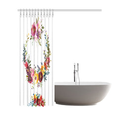 WOW | i Collection Colorful Royal Floral Designer 72x84 Shower Curtain