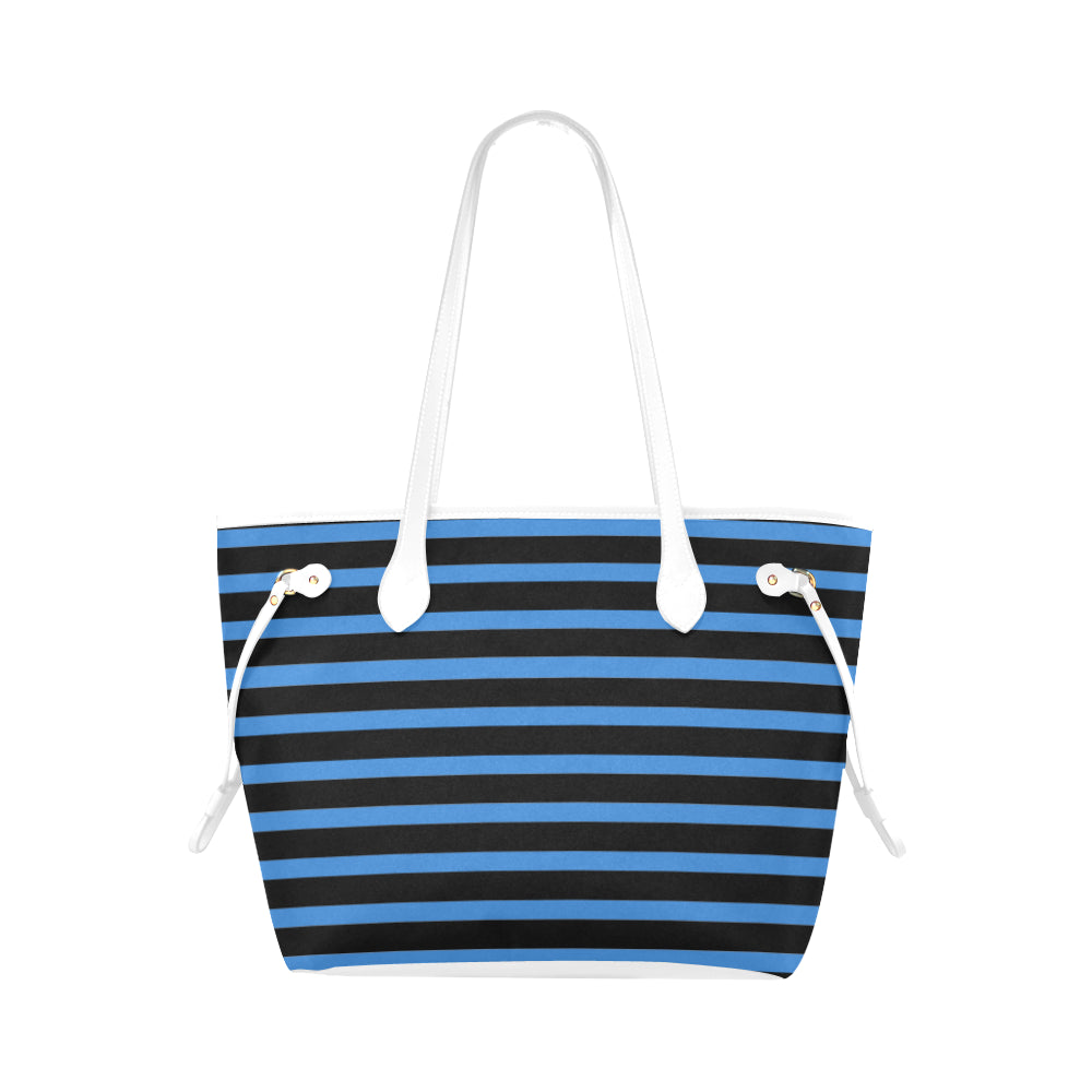 WOW | i Collection Geo Stripes High Grade Blue Classic Tote Bag