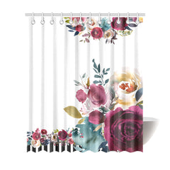 WOW | i Collection Soft Floral & Pattern Designer 72x84 Shower Curtain