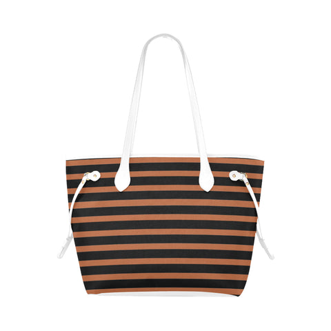 WOW | i Collection Geo Stripes High Grade Bronzy Classic Tote Bag