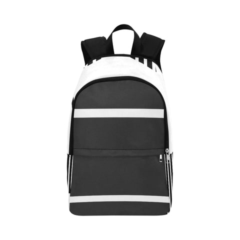 WOW | i Collection Minimalist Stripes High Grade Waterproof Nylon Casual B&W Backpack