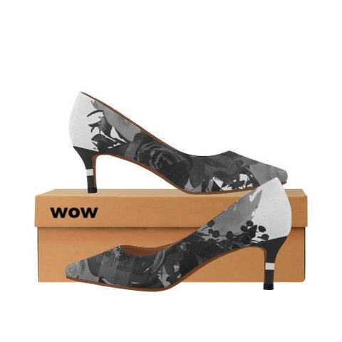 WOW | i Collection Women's Pointy Toe Low Kitten Heel Pumps Trendy Colorful B&W Shoes