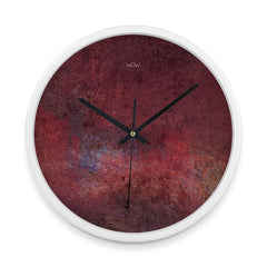 WOW | J Collection 14in White Framed Sweep Movement Mute Abstract Marble Wall Clock