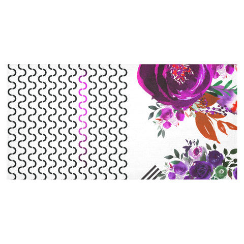 WOW | i Collection Colorful Purple S-Wave Tablecloth 60x120 Decoration